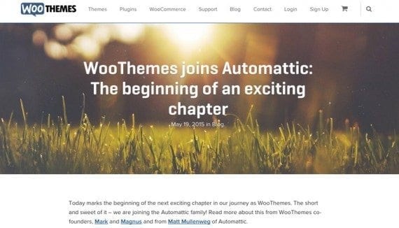Automattic announced that it would acquire WooCommerce last month.