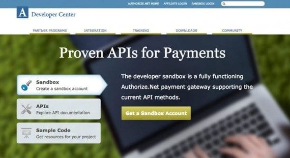 Authorize.net includes fairly extensive APIs for its payment processing services.