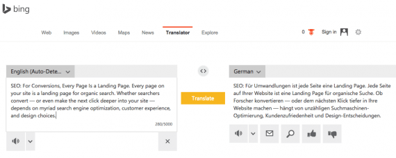 Microsoft's Bing translation tool offers a plugin, to install on websites.