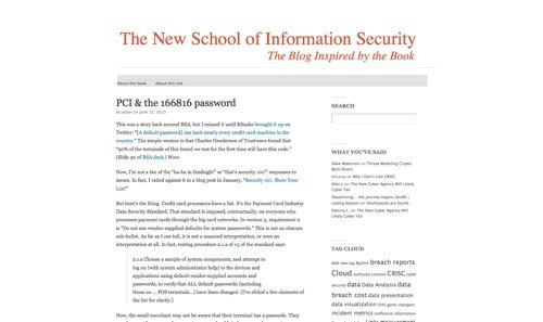 The New School of Information Security.