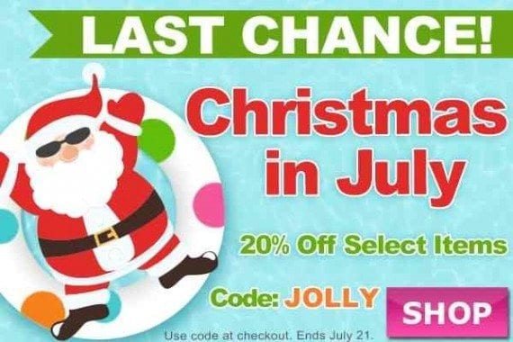 "This ""Christmas in July"" email comes with a promotion code."