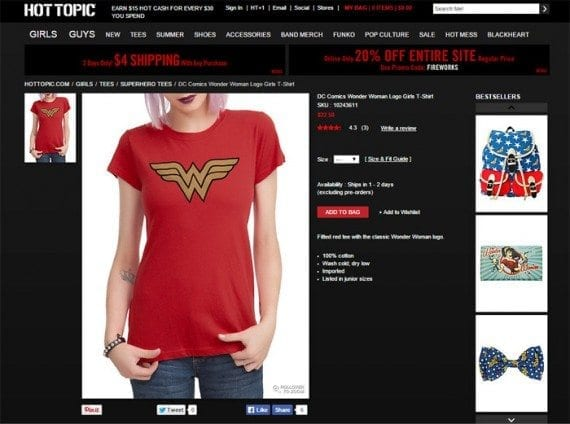 Hot Topic's relatively large product image is just 45 KB.