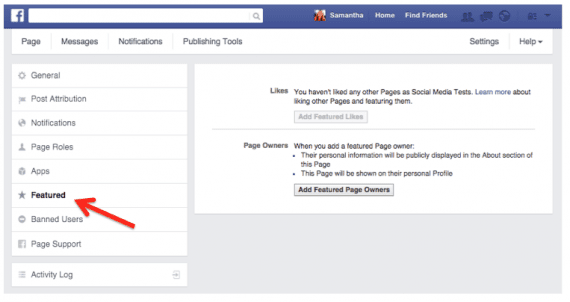 Use featured pages on Facebook to show off your relationships with partners or key customers.