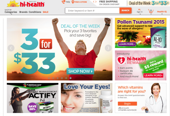 Hi-Health sells nutritional products online and through physical stores.