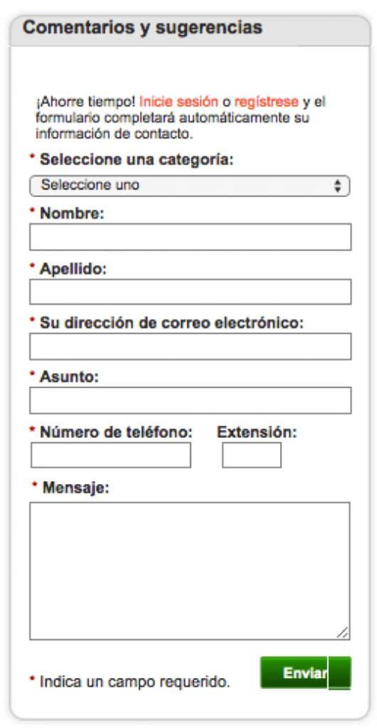 This form is customized for consumers in Mexico.