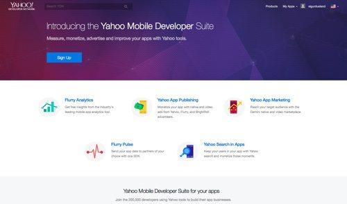 Yahoo Mobile Developer Network.