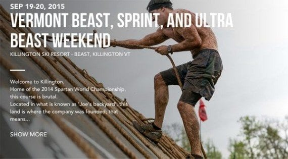 The Vermont Beast Spartan Race is an example of an event that content marketers can participate in and then publish about the experience.