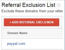 Add PayPal to the referral exclusion list.