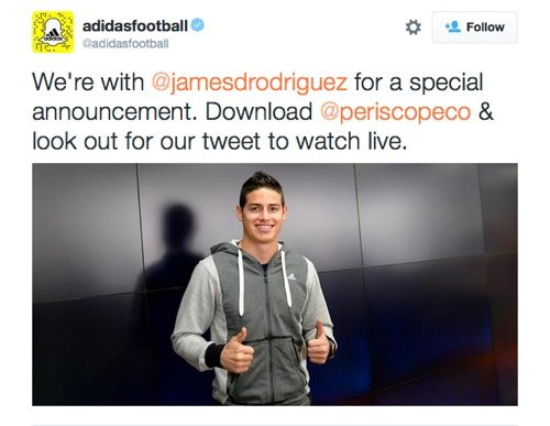 Adidas on Twitter.