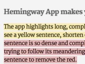 Content Marketing: Let Hemingway Help