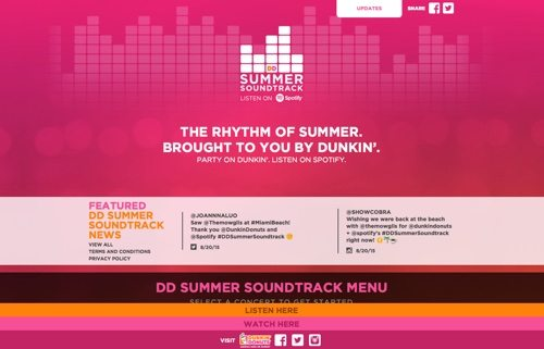 DD Summer Soundtrack website.