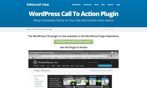 WordPress Calls to Action.