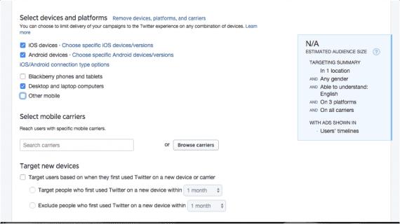 Select device settings.