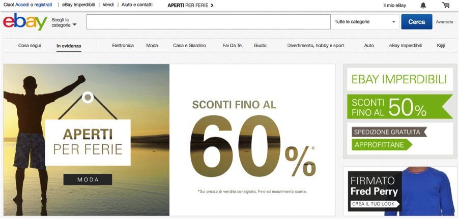 EBay's Italian site is fully translated.