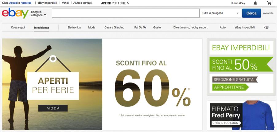EBay's Italian site is fully translated.