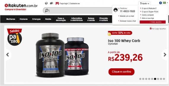 Rakuten translated its Brazilian site and offers localized customer service.