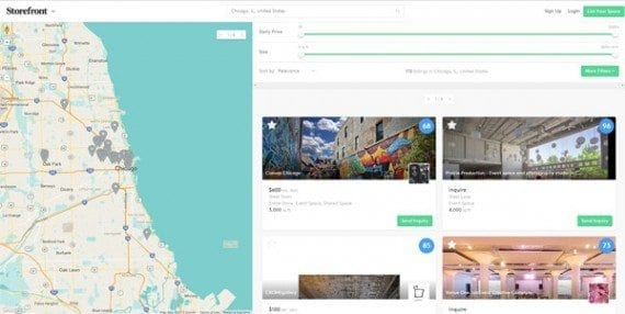 Storefront, a pop-up locator service, helps you locate space for your pop-up shop.
