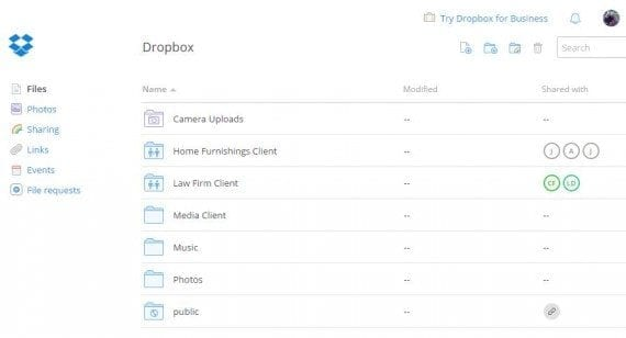 Dropbox is a good place to store content, such as images.