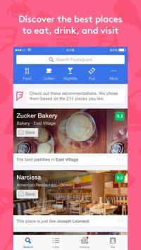 Foursquare App.
