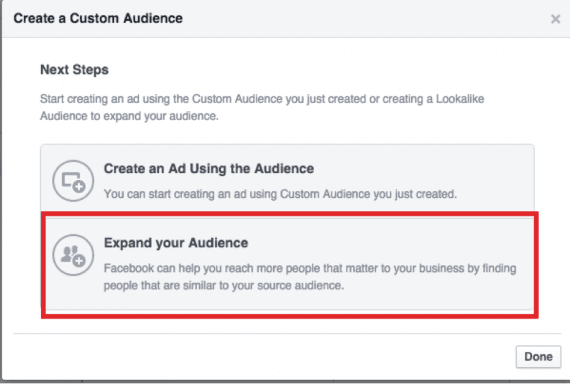 Click on a choice to enhance a audience.