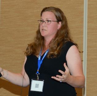 Jill Kocherspeaking at Ignite 2015 in Dallas.