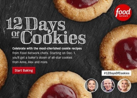 "Food Network's ""12 Days of Cookies"" campaign in an annual tradition that recipients recognize and anticipate."
