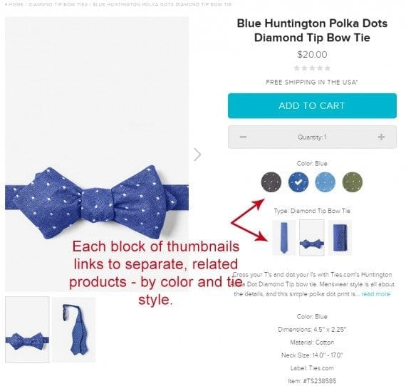 Bow Tie Product Page from Ties.com