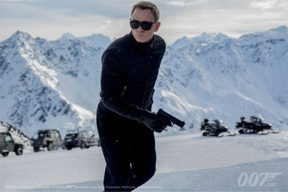 Spectre starring Daniel Craig opens on Nov. 6.