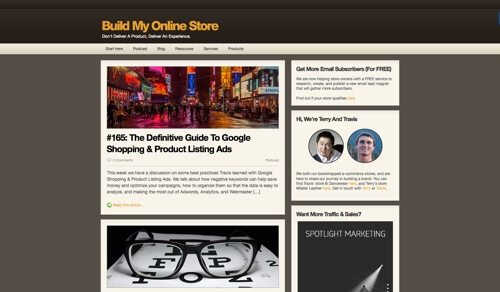Build My Online Store.