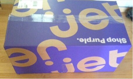 The 10 boxes of cereal arrived in 2 days, nicely packed in a big purple box.