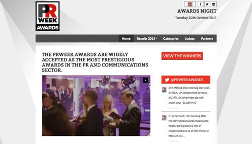 PRWeek Awards.