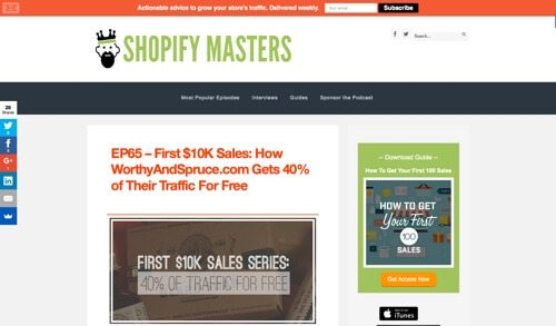 Shopify Masters.