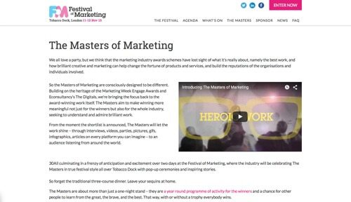 The Masters of Marketing.