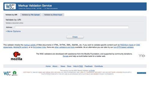 W3C Markup Validation.