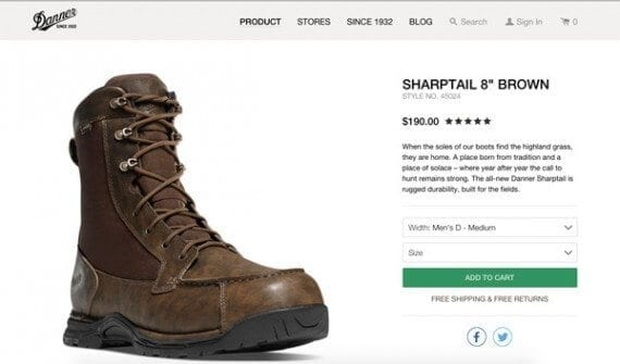Danner Footwear, a product manufacturer, is competing with its traditional customers, retailers, for ecommerce sales.