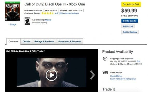 Best Buy uses video on product detail pages.