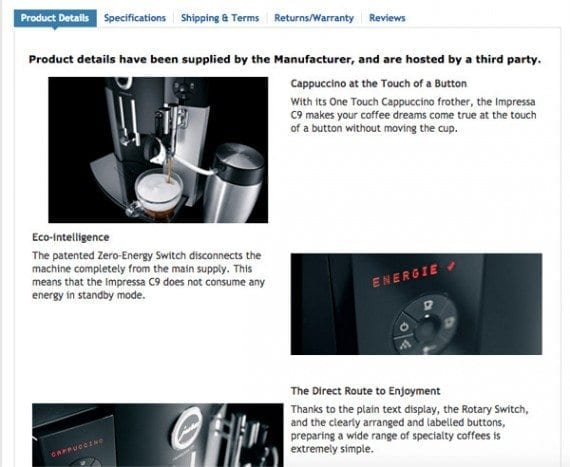 The coffee center images appear in several sections of the page.