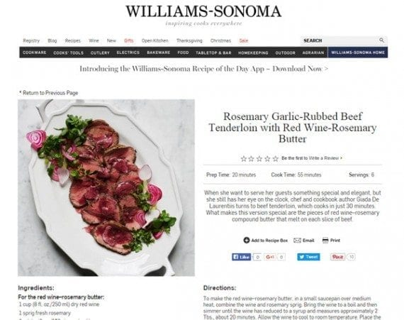 Recipes are another example of content you can publish during the holidays.