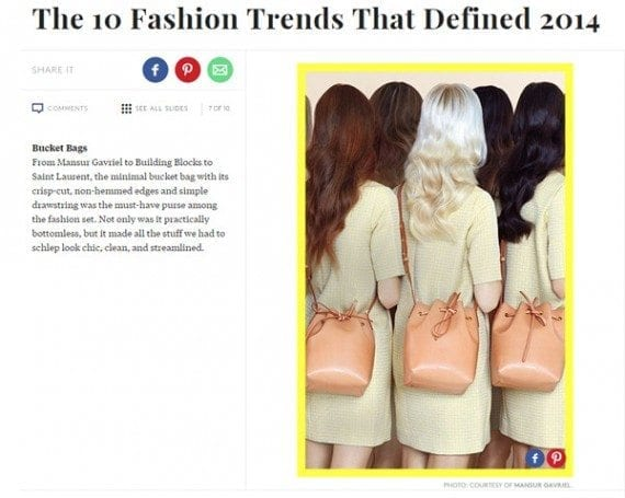 Refinery29 is one of many sites that publish retrospective articles.