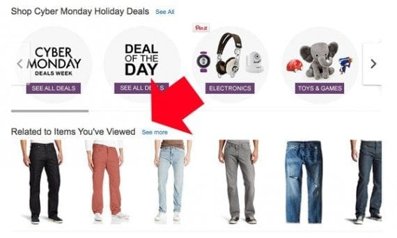 Amazon makes personalized recommendations based on customer activity.