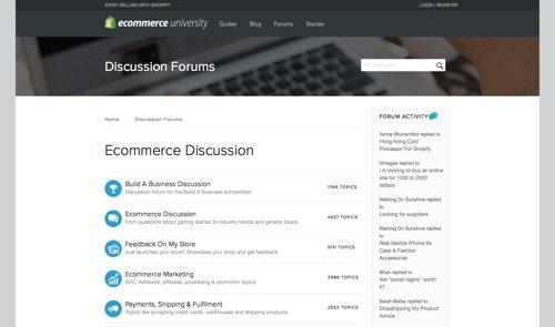 Shopify Forum.
