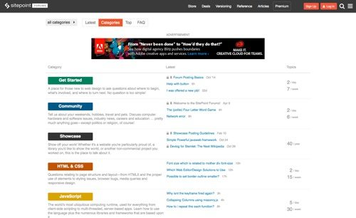 SitePoint Forums.