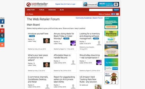 The Web Retailer Forum.