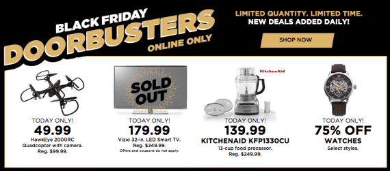 Be sure to display other options when key items sell out. Source: Kohls.com.