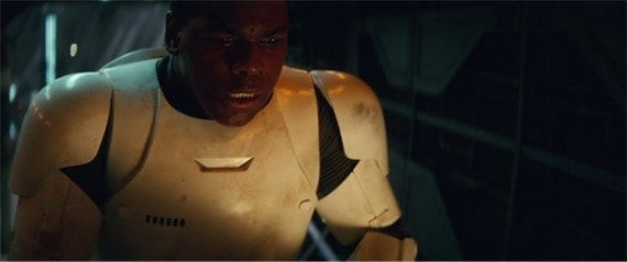 It turned out that Finn really was a storm trooper.