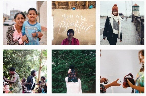 Krochet Kids International tells a visual story on its Instagram page.