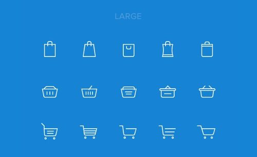 15 Shopping Cart Icons.