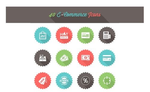 40 E-Commerce Icons.