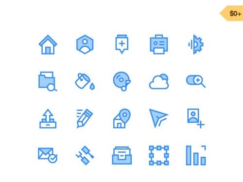 40 Free Web and E-commerce Icons.