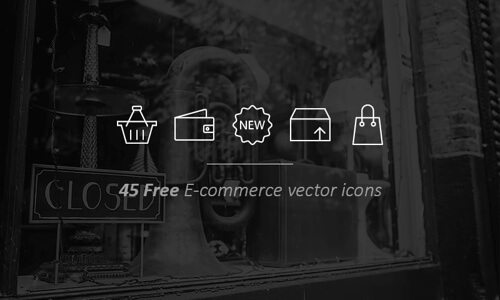 45 Vector Outline E-commerce Icons.